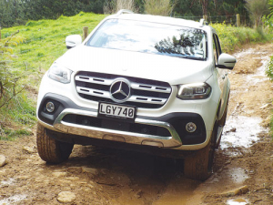 The X-Class ute sports a broad, handsome front-end that makes it clear it is a Mercedes.