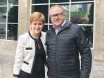 NZ Special Agriculture Trade Envoy Mike Petersen pictured with the First Minister of Scotland Nicola Sturgeon.