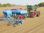 Lemken claims there are yield and quality advantages by precision planting maize in two staggered rows.