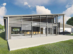 Architect's rendering of the new Research Winery and conference facility in Blenheim, which will be operational for vintage 2020.