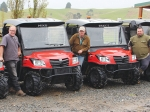 Tainui Group Holdings farm staff with their UTVs.