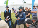 Dr Peter Boutsalis, of the University of Adelaide, gives a presentation on herbicide resistance at the FAR CROPS Annual Expo held at the Chertsey research site, Mid-Canterbury, in December. SUPPLIED.