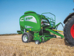 The new V8 baler can pack up to 30% more crop into a 1.9m bale than can be achieved in a current 1.68m, V6 engine.