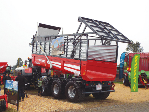 The tip trailer on show at this year's Fieldays.