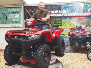 Former All Black Tony Woodcock tries out the new King Quad.