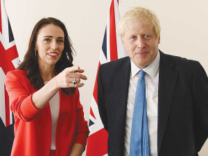 Prime Minister Jacinda Ardern would be hoping for a good trade deal from Boris Johnson's Government.