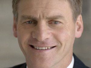 An up: Bill English.