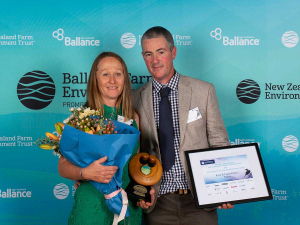 Central Hawke's Bay farmers Linda and Evan Potter say they are humbled to be named this year's Ballance Farm Environment Award winners.