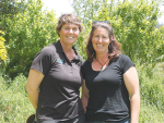AgFirst consultant Kim Robinson (left ) pictured with Kylie Guckert Northland SMASH field day host.