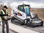 Robotic Bobcat works tight spots