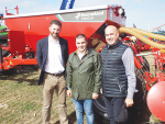 Sprayer chiefs (from left) Graham Gleed, area export manager KG Group; Dimo Dimov, product manager KV; and Geoff Maber, managing director Power Farming.