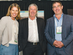 Agriculture Minister Damien O'Connor (centre) with IrrigationNZ chair Nicky Hyslop and chief executive Andrew Curtis at the 2018 IrrigationNZ Conference.