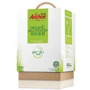 Anchor organic milk powder launched earlier this month in China.