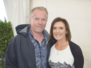 New Fonterra director Leonie Guiney and husband Kieran at the co-op's AGM.