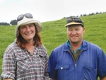 Sue and Mark Dyer, Drury dairy farmers.