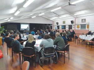 The Ongarue group and two other action groups joined forces to fly Doug Avery from the South Island to talk about mental health and wellbeing of farmers