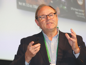 Nestle's Hans Johr at the conference.