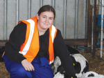 Ashlee Ennis is thrilled to get a job on a dairy farm.