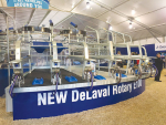 The DeLaval Rotary E100 on display at the Fieldays.