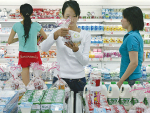 Chinese consumers are buying more dairy products despite an economic slowdown in the country.