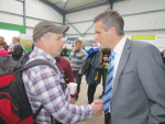 IFA boss meets up with a member at the Irish Ploughing Champs.