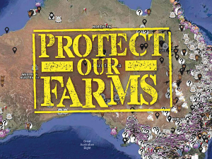 Australian animal rights activists released this map identifying farms and abattoirs earlier this year.