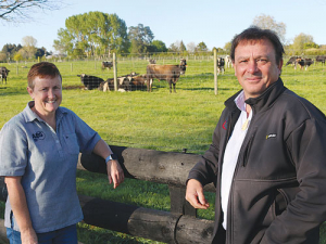 Jacqui Forsyth, ABS general manager and Aaron Parker, CRV Ambreed.