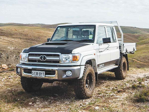 The ZED 70 is based on the rugged Toyota Landcruiser 70.
