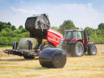 Massey Ferguson's new sleek round baler.