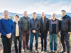 The AMW committee from left; Ivan Sutherland, Fiona Turner, John Forrest, Clive Jones, John Buchanan, James Healy and Yang Shen.