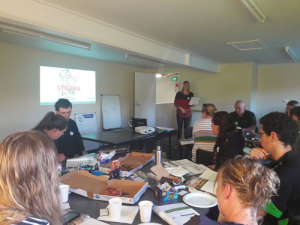 Good Yarn workshop participants in Carterton.