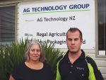 Janine Porter and Ben Harris from Waikato-based AG Drive, which will soon be offering a five-day introduction course to agricultural contracting.