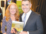 Nathan Guy with Avocado NZ chief executive Jen Scoular.