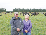 Parkhill Dairy Farm owner Andrea Barry with farm manager Craig Pennell.