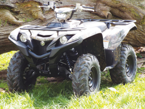 Yamaha's Grizzly set to tackle tricky terrain.