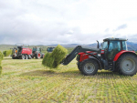 A key part of David O'Neill's contracting business is the 8 Massey Ferguson and 7 Fendt tractors that make-up his fleet.