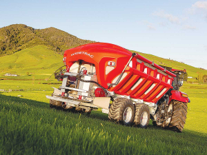 Giltrap's new Widetrac is a cost-effective, easy-to-use fertiliser spreader that eliminates the need for manual adjustment.