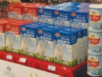 Australian milk powder packed for Chinese consumers.