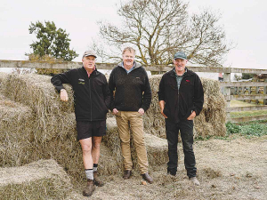 Co-chair of the Hawkes Bay rural advisory group Lochie MacGillivray (centre) says the region is now into the phase of working through the hard yards of the winter. Photo: Michael Schultz Photography.