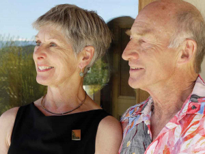 Marilyn Duxson and John Harris, compelled to the world of wine, after a life of science.