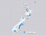 A map of the Mycoplasma bovis spread indicates that only the Bay of Plenty and Marlborough remain free of the disease.