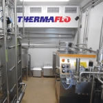 Thermaflo's dairy plant in a shipping container.
