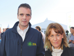 Irish farming head Joe Healy and UK counterpart Minette Batters at the Irish ploughing champs.