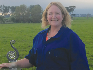 Dairy Woman of the Year Trish Rankin.