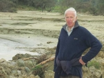 Nick Tripe, 77, lost 15% of his pastures to slips and silt damage.
