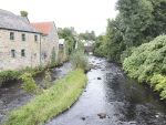 The patch of grass in a stream in the village of Pettigo defines the border between south and north of Ireland.