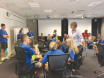 Students learn about the dairy industry at DairyNZ.