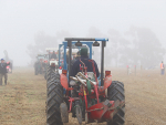 Ploughing in the mist