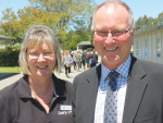 Susan Stokes of DairyNZ and Arthur Graves, principal at Taratahi Agricultural College.