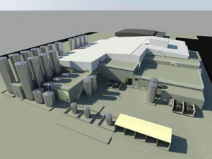 Architect's impression of the new IQF mozzarella plant at Clandeboye.